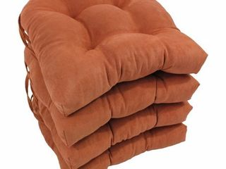 blazing needles 16in u shape microsuede chair cushions set of 4 Spice