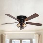 Patti uncle 48  low Profile Metal 5 Blade Ceiling Fan with Remote  Retail 147 49 black