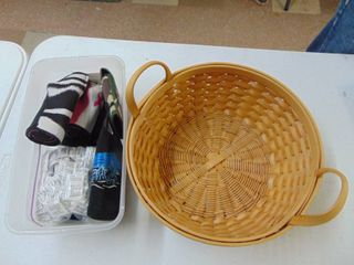 large Round Basket with contents