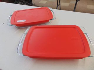 2 9x13 PyrexBaking Dishes