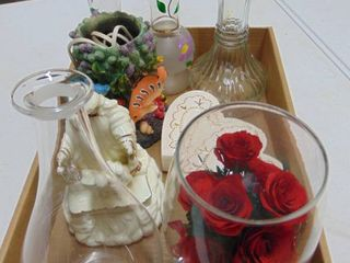 3 Bud Vases   Religous Figurine and More