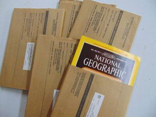 National Geographic Magazines in sleeves