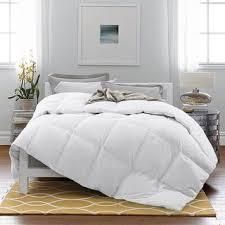 FUll QUEEN White luxury Year Round Goose Down Blend Gusseted Duvet Comforter