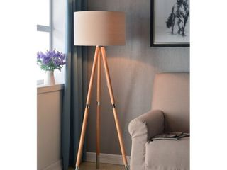 Scope Natural Wood Grain 60 inch Floor lamp Retail 150 99