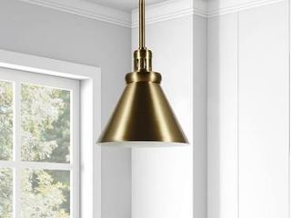 Zeno Pendant lamp Gold in Brushed Brass Finish