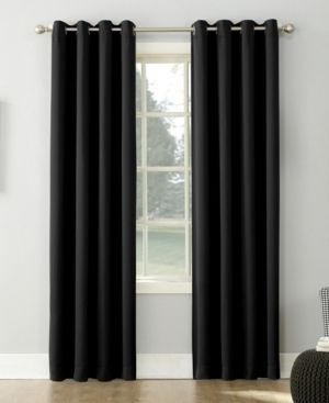 PAIR OF 95 x54  Kenneth Energy Saving Blackout Grommet Top Curtain Panel Black   Sun Zero