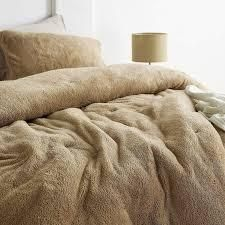 Coma Inducer Oversized Comforter   Teddy Bear   Taupe Natural  Shams not included  Retail 125 49