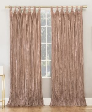 PAIR OF Odelia 50  x 95  Distressed Velvet Tab Top Curtain Panels