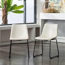 Carbon loft Inyo PU leather Dining Chairs  Set of 2  Retail 139 99