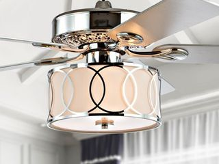 Circe 52  3 light Drum lED Ceiling Fan With Remote  by JONATHAN Y Retail 275 52
