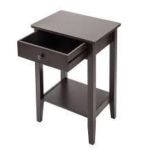 Porch   Den Clarkson 2 Tier Sofa Side End Table Nightstand w  Drawer