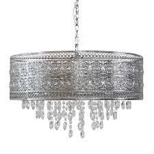 River of Goods Monroe Crystal and Polished Nickel 24 W 3 light Chandelier