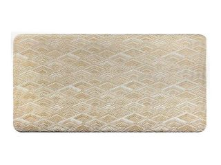 Cat Cora 20  x 39  Diamond Kitchen Mat Beige