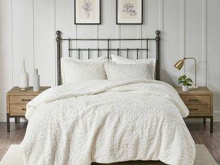 KING SIZE Madison Park Syracuse Ivory Ultra Plush Comforter Set   Retail 94 99
