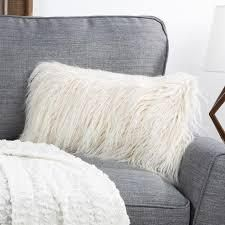 Hasting a home 12 x 20 Faux Fur lumbar Pillow