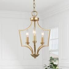 Glam 3 lights Chandelier Gold Hanging Ceiling
