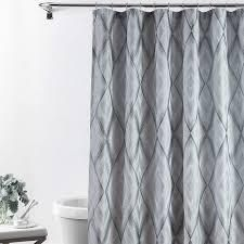 Croscill Echo Xl  Geometric Diamond Pattern Fabric Shower Curtain  72a X 84a