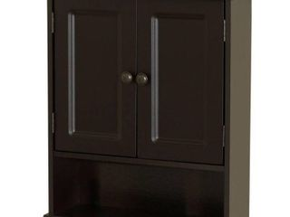 Zenith Products 9918CHA Espresso Collette Wall Cabinet
