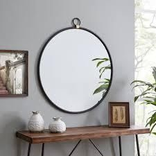FirsTime   Co Ar Marshall Round Mirror  Mirror  32 5 x 1 x 36 in  American Designed   32 5 x 1 x 36 in   Bronze