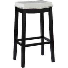linon Claridge Bar Stool  32  x 18 75  x 13  White