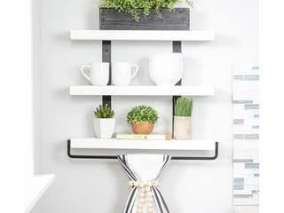 Del Hutson Designs Industrial Grace Three Tier Shelf