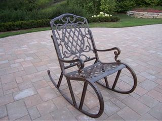 Dakota Cast Aluminum High Back Rocking Chair  Retail 327 99