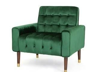 Bourchier Button Tufted Velvet Armchair