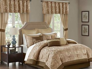 Brown   Queen  Madison Park Cadence 24 piece Room in a Bag  Retail 219 49