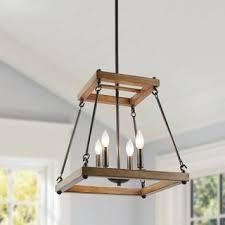 The Gray Barn Joyful Stream Farmhouse Mini Chandelier with Square Trapezoid Frame Retail 189 49