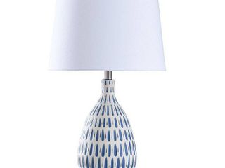 StyleCraft Marissa Off White and Blue Table lamp   Off White Shade  Retail 81 99