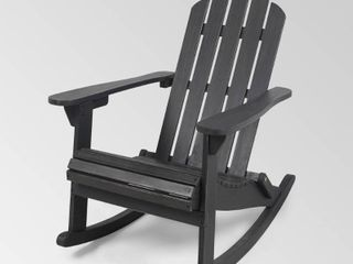 Hollywood Outdoor Adirondack Acacia Rocking Chair by Christopher Knight Home   Retail 158 49