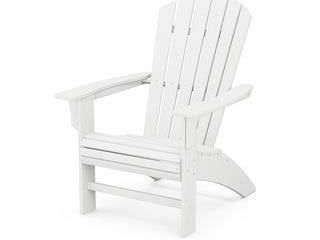 Yacht Club Curve back Adirondack in Classic White