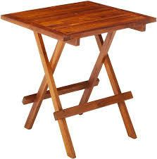 Bare Decor Ravinia Folding Teak Small Table