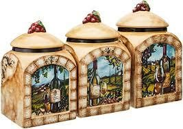 Certified International Tuscan View 3 Piece Cannister Set