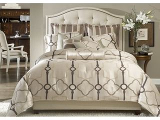 KING SIZE Michael Amini Keystone Court 10 piece Comforter Set