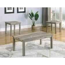 Grey  Best Master Furniture Console and Stool 3 Piece Set Retail 305 49