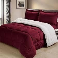 Burgundy   King  Copper Grove Pontica Faux Suede 3 piece Comforter Set Retail 89 98