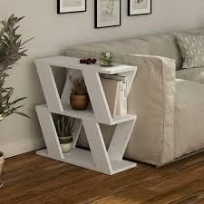Saphire Wood 2 Shelf Modern Coffee Table