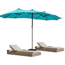 Zenova 180 lighted Market Sunbrella Umbrella