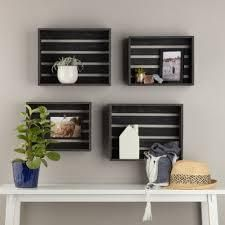 Gallery Solutions Rustic Wood Crate Wall