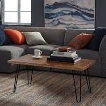 Tindle Coffee Table  Wood and Black