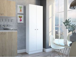 Multi Storage Pantry Cabinet in White