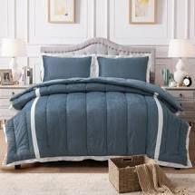 Kasentex Down Alternative Comforter Set GREEN QUEEN
