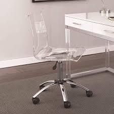 ClEAR ACRYlIC  Aerial Adjustable Swivel Office Chair by