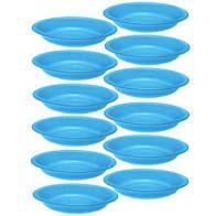 SET OF 12 Plastic Plate 15Ounce Microwavable Dishwasher Safe BPA Free 33 1166 12
