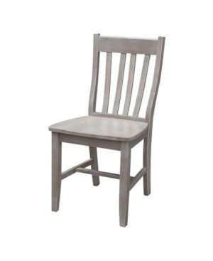 Cafe Dining Chair in Washed Gray Taupe   Set of Two Retail 228 99