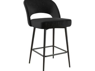 Black   Single  Cosmoliving Alexi Upholstered Counter Stool Retail 136 49