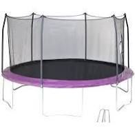 Skywalker Trampoline 14a Round Purple Trampoline with Wind Stakes Box 1 of 2