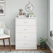 Mainstays Bedroom 4 Drawer Dresser White