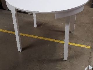 3 5 FT Round White Dining Table